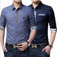 New autumn and winter fashion men's shirts men's business casual long-sleeved shirt M / XXXL