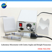220V M33Es Electric E-Motor Contra Angle & Straight Nose Cone Handpiece + 35000 rpm 65W 90 Micromotor Power Unit