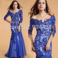 2014 Sheath Deep V-Neck Evening Dress Elegant Temperament Dress Generous And Fashionable Celebrity Dresses Designer SH148
