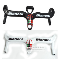 Bianchi Carbon fiber road bike handlebar carbon bicycle Handlebars with Stem integrated and computer mount cycling parts