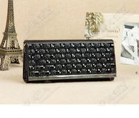 2014 new brand Upscale women wallet leather Rhinestone wallet fashion chain purse women clutch wallet ladies handbag Evening Bag
