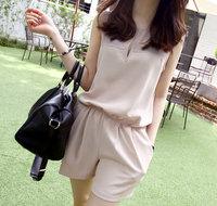 2014 summer new Korean fashion women's casual short pants leotard black and nude YM9293 szie S/M/L/XL