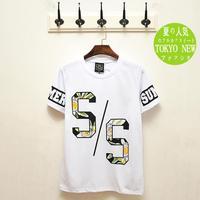 2014 men's summer new digital printing Japanese casual round neck short sleeve T-shirt