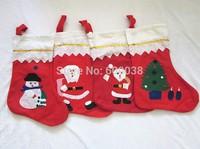 12 pcs/Lot Wholesale New Cute Santa Clause Santa Christmas Decoration Clothing Holiday Christmas Stocking Christmas Gift Bag