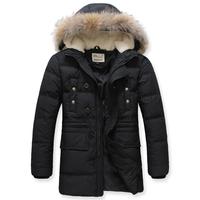 2014 Brand 80% Duck Down Jackets New Arrival Men's Winter Coat Padded Jacket Autumn Winter Outwear Man Casual Coats Slim AX402