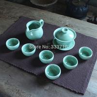 special offer chinese Longquan celadon tea set kung fu tea  tureen celadon tea set cup