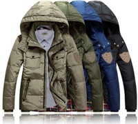 2014 Winter New fashion men's winter down coat,thicken warm snow down jacket for men,4 Colors,Size M-3XL,D3519,Free Shipping