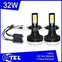 G6 2014 New Arrival Auto Car LED Headlight H11 6000k 30W 12V 24V IP68 Super Bright Aviation Aluminum + 1 Year Warranty