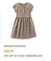 2014 original single super preceding carter's Carter printed cotton round neck short sleeve waist dress