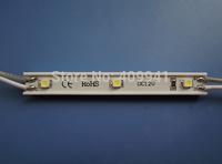 3 pcs  SMD3528 LEDs  LED Modules Waterproof IP68 DC12V Warm White/Pure White Rectangle Shape Free ship