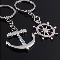 Key Ring Trinket Chaveiros Wedding Souvenirs Anchor Key Finder For Couple Key Bijoux Accessaries Alloy Creative Lovers Keychains