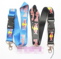 3 kinds colour Key hang rope key ring keychains keychain holder key chain for RED and BULL logo mobile phone Straps keychain