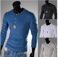 Hot Sales!New Arrival High Quality Men's T-shirt Fashion Casual T-shirt O-Neck Long-sleeved T-shirt 4 Colors 100% Cotton