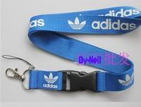 Blue Key hang rope key ring keychains keychain holder key chain for adida adi and das logo mobile phone Straps keychain