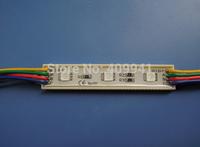 3 pcs  SMD5050 LEDs  LED Modules Waterproof IP68 DC12V RGB  Rectangle  Shape Free ship