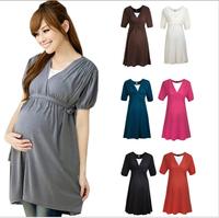 Women Pregnant Maternity Garment Dresses One-piece Dress Casual Feeding Plus Size XL Dresses High Waist Pregnant Clothing