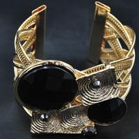 Wholesale Rosary Bangle New African Bangle Unique Items Gothic Fashion Exaggerate Black Resin Women Bangles Indian Bracelet