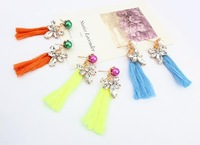 new tassel pearl earrings for women fashion long earrings 2014 vintage jewelry wholesale color bohemia earring