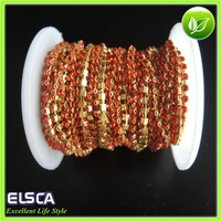 2014 new best selling SS8 Light Siam color crystal cup chains