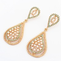 brand new dangle earrings for women fashion pearl earrings 2014 vintage jewelry wholesale restro Antique drop earring
