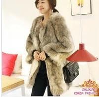 Fur coat fox fur fashion medium-long women's normic overcoat