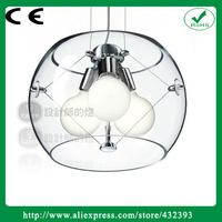 Newly Design 110v 220v e27 Lamp Holder Glass 2014 Round  Mosaic Glass Pendant Light For Home Bar Hotel Round  lighting