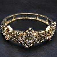 Wholesale Jewelry 2014 New Hot Sale Europe Rhinestone Retro Bangle Vintage Jewelry Luxury Women Indian Bracelet