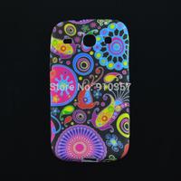 Hot Flower Retro UK Flag Soft TPU Back Skin cover phone case for Samsung Galaxy core i8260 i8262 GT-I8262