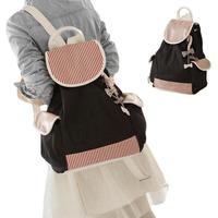 Women's Canvas Travel Satchel Shoulder Bag Backpack School Rucksack Bookbag