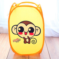 Cartoon animal dirty clothes basket folding clothes basket portable clothing storage basket 2