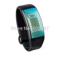 Sports bracelet pedometer LED smartwatch with 8GB flash memory