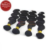 Grade C Brazilian virgin  hair body wave hair extensions,4pcs bundles Unprocessed Human Hair Weaving by SGS Certificated