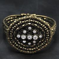 Wholesale Jewelry 2014 New Fashion Hot Sale Gothic Rhinestone Retro Bangle Vintage Jewelry Luxury Women Indian Bracelet