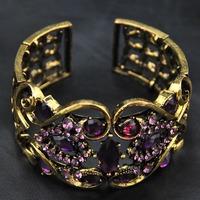Wholesale 2014 New Designer Europe Jewelry Rhinestone Unique Items Bangle Vintage Jewelry Luxury Women Cuff  Indian Bracelet