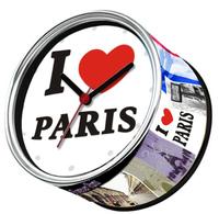 I Love Paris In France Kitchen Fridge Magnets Cheap Wall Clocks Desk Table Function Clocks Free Shipping