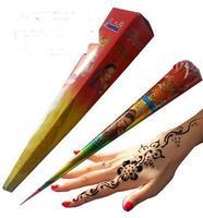 Quality goods import henna/sea na cone/India ink/na/Hanna tattoo tattoo paste pure plant brown 1PCS  send free  tattoo Templates
