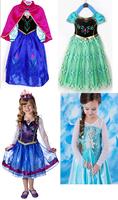 Girl Frozen Queen Princess Elsa Anna Cosplay Costume Party Fancy Dress