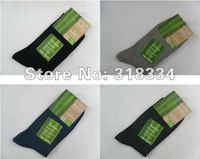 Bamboo fiber men's socks color mix 10 pairs / lot Free shipping