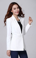 #804#Free Shipping 2014 new fashion women plus size coat high quality slim  lady outerwear office lady blazers