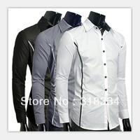 Fashion Mens Luxury Casual Slim Fit Stylish Dress Shirts 3 Colors lyr3