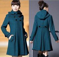 Autumn and Winter Coat Wool Double-Breasted Outerwear Women Medium-Long Coat Wool Coat Wool Coat WT4091