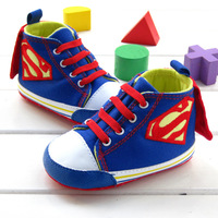 2014 new in stock superman baby boys fashion sneakers infant kids toddler shoes first walkers 6094 free shipping