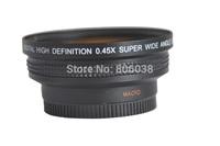 58MM 0.45x Wide Angle Lens + Macro Lens 72 UV Front Filter Thread for Cannon 350D/ 400D/ 450D/ 500D/ 1000D/ 550D/ 600D/ 1100D