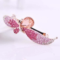 FreeShipping ( 3 pcs/lot )Filigreed Full Rhinestone Flower Hair Clip For Girls Fashion Crystal Hair Barrettes
