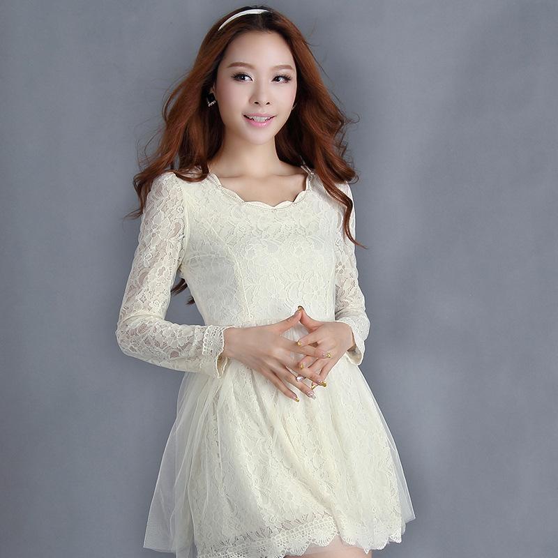 Vestido De Festa Real Sale Silk Jersey Vestido Women 8118# 2015 The New Spring Fashionable Slim Long Sleeved Bottom T-shirt(China (Mainland))