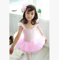 Lovely Girls Leotard Ballet Tutus Pink Skate Dancewear Dress Ballerina Tutu 3-8Y