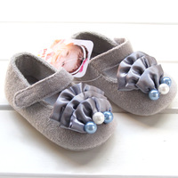The original UK Baby girls fashion dress shoes pearl infant kids toddler shoes 4955 free shipping