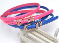 Factory Direct! 2014 Hot! Korean wild fashion belt crony  belts for women free shipping