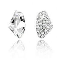 Free shipping/ Sterling silver jewelry/women's jewelry  crystal  asymmetric  earrings