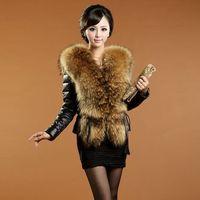 Free shipping new short section Fake mink collar fur winter coat, PU leather winter thick jacket, S/M/L/XL/XXL/XXXL plus sizes